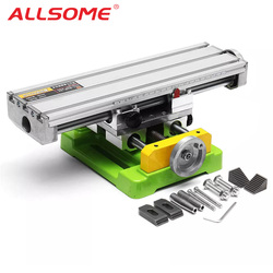 ALLSOME MINIQ BG6350 многофункциональная дрель тиски приспособление Рабочий стол мини прецизионный фрезерный станок Рабочий стол HT2747