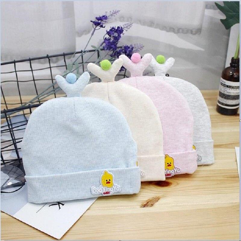2019 Winter Baby Hats Cartoon Cotton Sweet Hat For Girls Boys Newborn Little Yellow Duck Cap Accessories