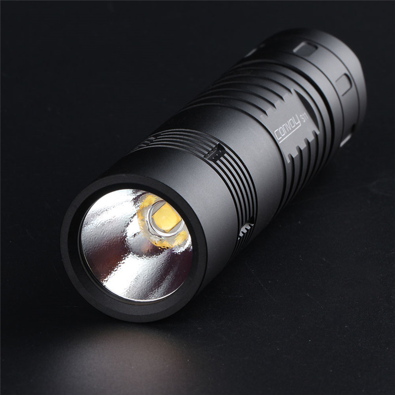 Convoi S11 XHP50.2 18W 2400lm 3A sortie luminosité LED lampe de poche tactique Mini torche EDC 18650 pour Camping torche lanterne poche