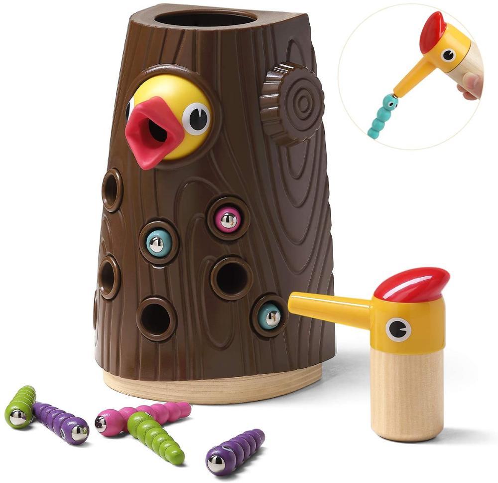 Magnetische Kleinkind Spielzeug für Mädchen Jungen-Feine Motor Fähigkeiten, Sensorischen, Fütterung, vorschule Spielzeug Spiele-Hungrig Specht Spielzeug