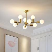 Nordic magic bean chandelier LED simple postmodern style restaurant chandelier creative personality living room chandelier