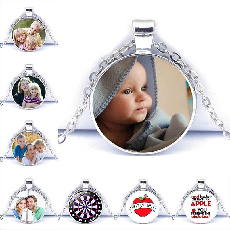 Кулон с фото на заказ, ожерелье с фото для вашего ребенка, мамы, папы, бабушки и дедушки, подарок для членов семьи