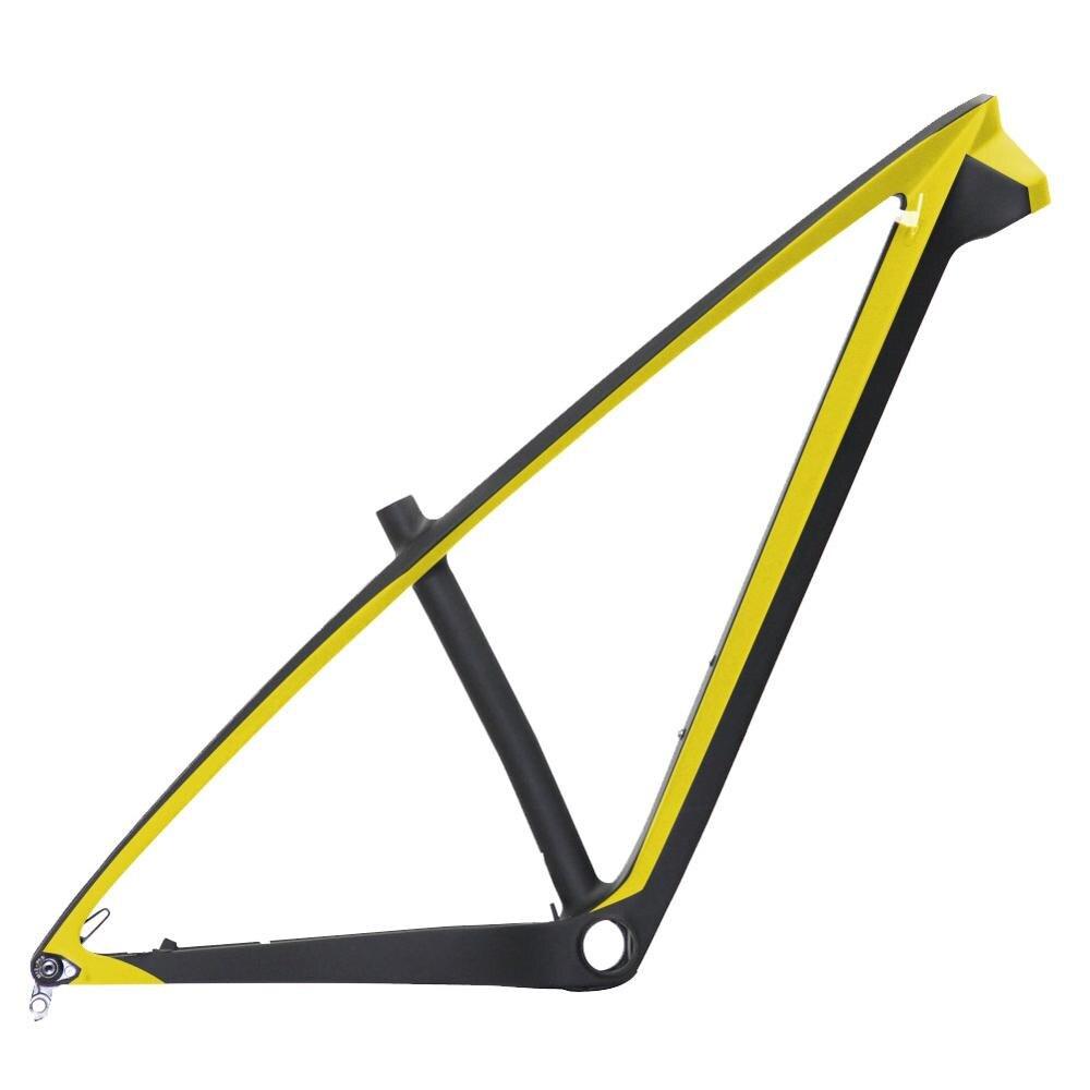 Spcycle T1000 Carbon MTB Frame 29er Carbon Mountain Bike Frame 142*12mm Thru Axle MTB Bicycle Frame BB92 15/17