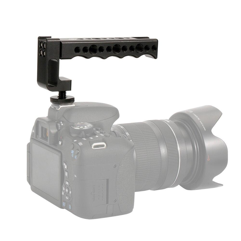 Black Durable JINGZ Metal Flash Bracket for DSLR Camera