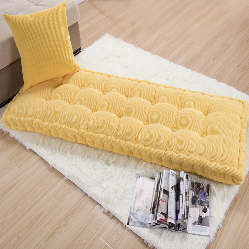 Thick Cushion  Autumn/winter Chair Cushions Home Office Decoration Long Cushion Solid Color Tatami Cushion Customizable Cushion