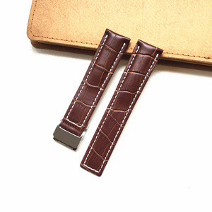 Image 3 - MERJUST 22mm 24mm Black Brown Blue Genuine Leather Watchband Wristband For Breitling Avenger Navitimer Watch Strap Wristband