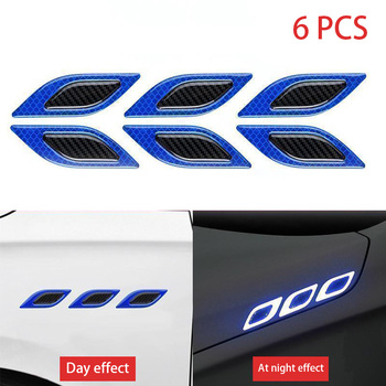 stickers for car 6Pcs/Set Car Reflective Strips Carbon fiber Car Sticker Truck Auto Motor Anti-Scratch Safety Warning Sticker Ca 9