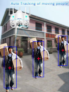 Wifi-Camera Auto-Tracking Audio-Surveillance Speed-Dome Outdoor Icsee Smart Home-Security