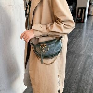 Image 2 - Moda kaliteli PU deri Crossbody çanta kadınlar için 2021 zincir küçük omuz basit çanta bayan seyahat çanta ve çantalar
