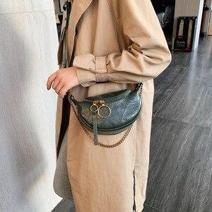 Image 2 - Moda qualidade couro do plutônio crossbody sacos para as mulheres 2021 corrente ombro pequeno simples saco senhora bolsas de viagem e bolsas