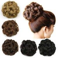 Soowee Synthetische Haar Clip In Haar Chignon Donut Roller Haarteile Haar Brötchen Blume Headwear Haar Haar Zubehör für Frauen