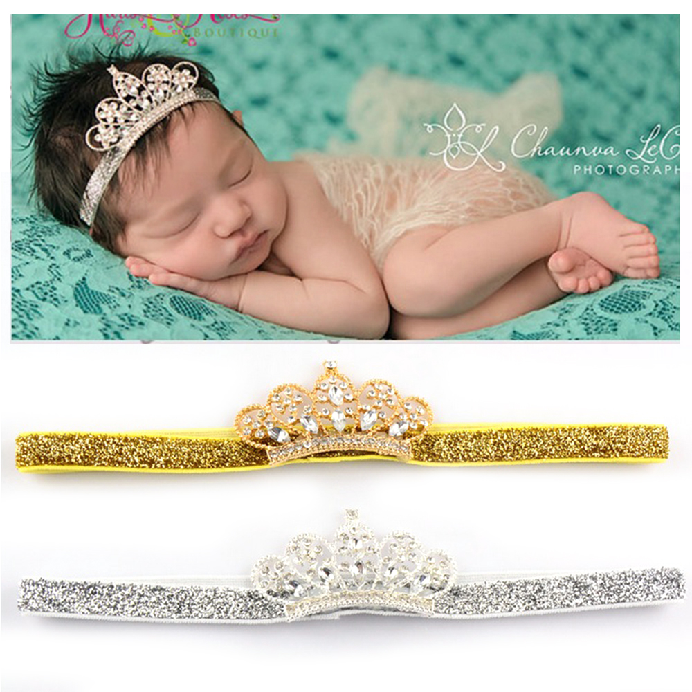 Crown Little Princess Hair Clip Cute Lace Pearl Shiny Girt for Baby Girls Child