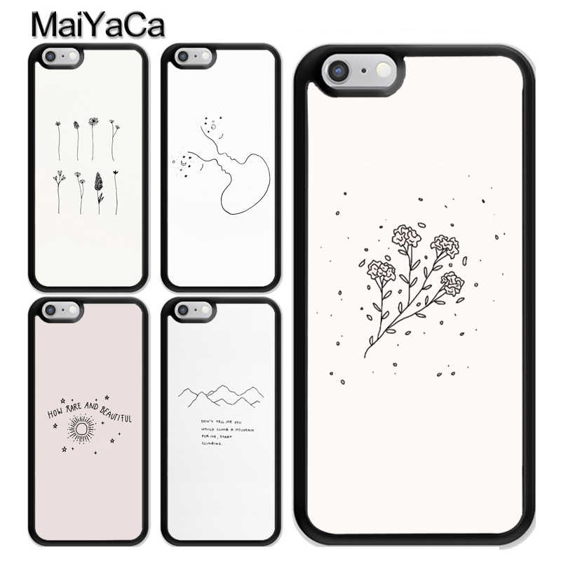 Aesthetics Chic Minimal Art Case For iPhone 12 Mini 11 Pro MAX X XR XS MAX SE 2020 6S 7 8 Plus 5s Cover