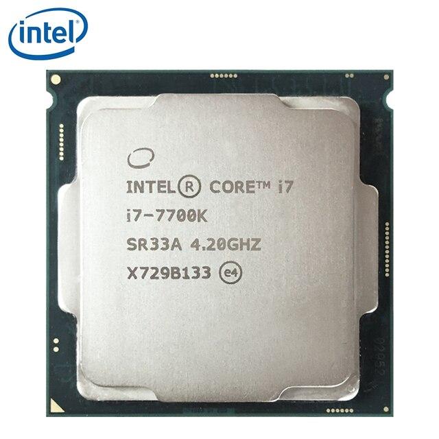 Intel core i7 7700K quad core cpu 4.2ghz, 8 thread lga 1151 91w 14nm i7 7700k processador testado 100% trabalho