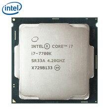 معالج انتل كور i7 7700K رباعي النواة 4.2 جيجاهيرتز 8 خيط LGA 1151 91 وات 14nm i7 7700K تم اختباره 100% يعمل