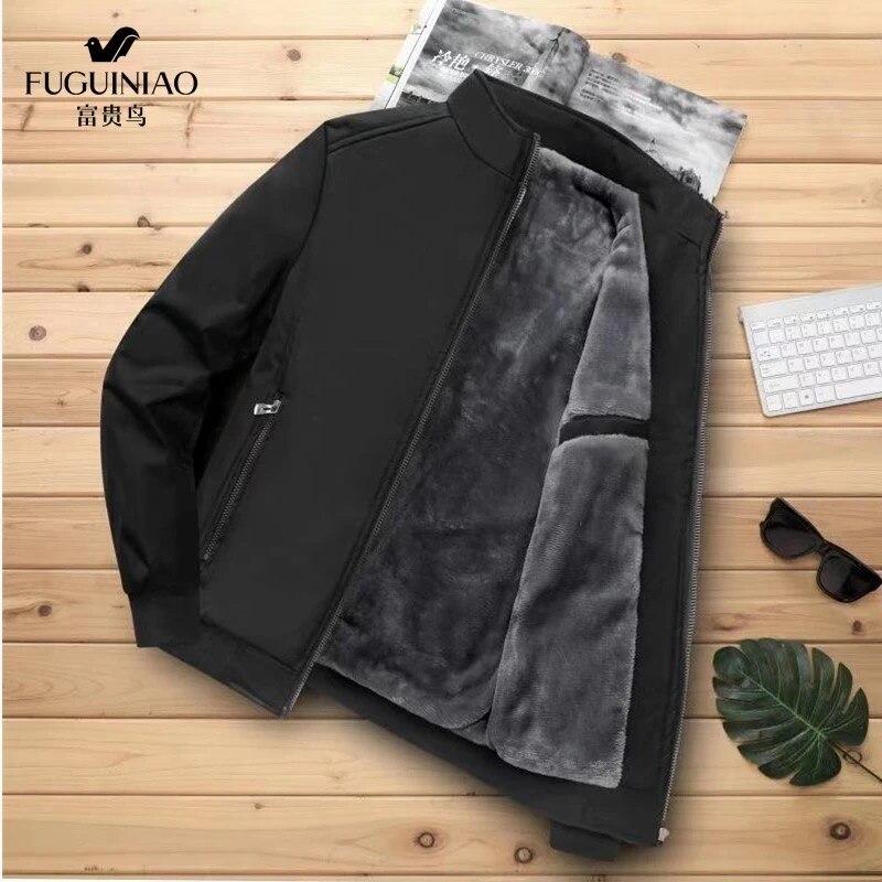 Abrigo de algodón para hombre, Chaqueta de algodón para hombre, chaqueta de negocios, ropa de béisbol de terciopelo del ejército, otoño e invierno, 2020