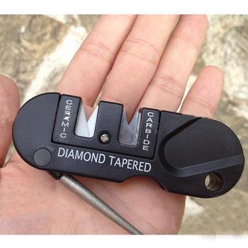 4in1 Pocket Knife Sharpener Hunting Knife Blade Sharpener Knife Sharpener Stone Spyderco Paramilitary 2 Convenient