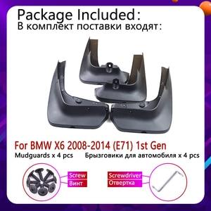 Image 2 - Front Rear Mudflap for BMW X6 E71 2008~2014 Fender Mud Guard Flap Splash Flaps Mudguards Accessories 2009 2010 2011 2012 2013