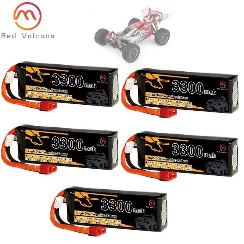 2s 7,4 V 3300mAh литий-полимерная батарея Wltoys 144001 T Plug для Wltoys 1/14 144001 RC автомобиль Лодка литий-полимерная батарея 1-5 шт.