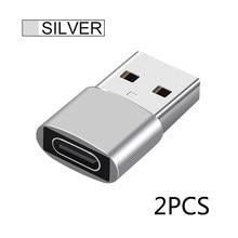 2pcs usb c adaptador otg tipo c para usb adaptador tipo-c otg adaptador cabo para iphone 12 pro max para airpods 1 2 3 telefone adaptadores usb