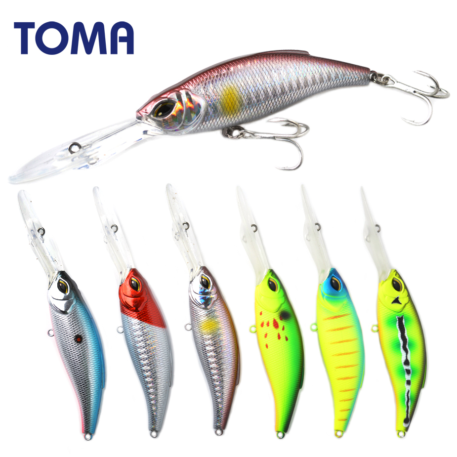 TOMA Deep Catcher 83S Fishing Lure 83mm 18g Sinking Minnow Wobbler Hard Lure Bass Pike peche isca artificial Bait Tackle