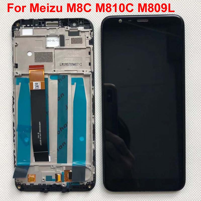 """Image 2 - Original Tested New For 5.45"""" Meizu M8C 8C M810H M809L LCD Display Screen With Frame+Touch Panel Digitizer For Meizu M8C DisplayMobile Phone LCD Screens   -"""