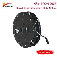 JS Brushless Non gear Hub Motor 48V 500 1000W Fat 4.0 Tire 55km/h Brushless 20 700C Rear Front Electric Bike Conversion Kit
