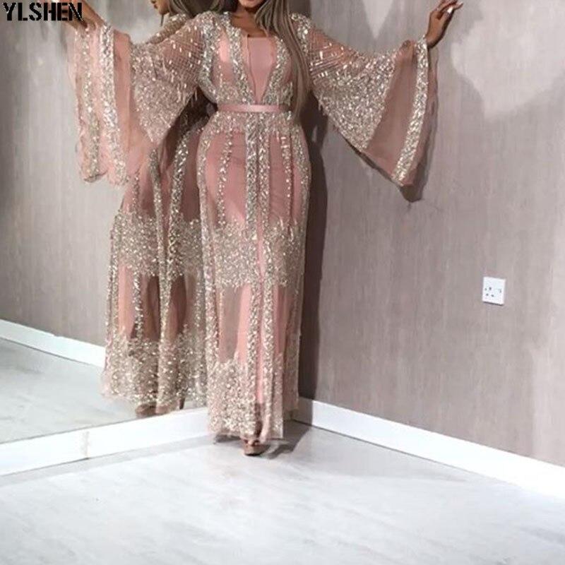 2 Piece Set African Dresses for Women Dashiki Hot Stamping Africa Dress African Clothes Abaya Dubai Muslim Dress islam Clothing 03