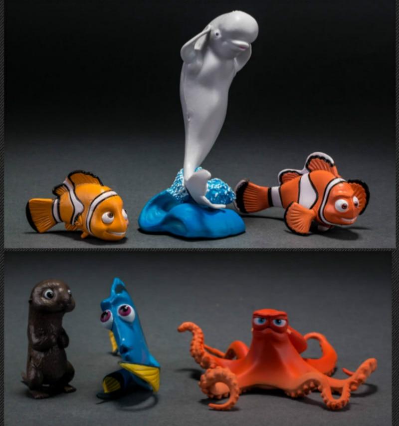 6pcs/set PVC Nemo Cartoon Fish Aquarium Ornament Artificial Fish Tank Mini Clownfish Decoration Micro Fish Decor Background
