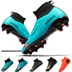 New Soccer Shoes Men High Top Training Ankle AG/TF Sole Outdoor Cleats Sport Shoes Spike Women Crampon Football Turf Boots Mens