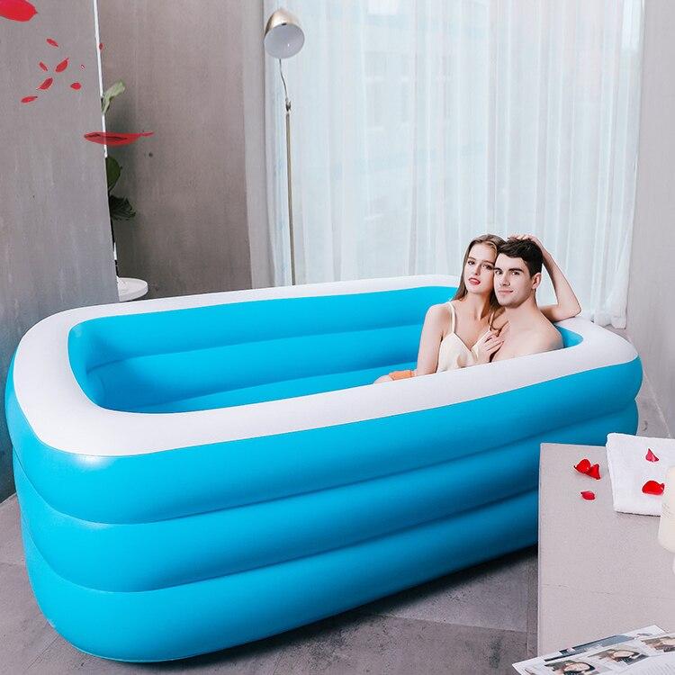Thick Foldable Baby Bathtub Portable Inflatable Winter Adults Large Bathtub Eco Friendly Banheira Household Merchandises DG50YP