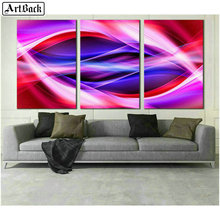 ArtBack three fight 5d diamond painting abstract landscape diy full square mosaic wall sticker