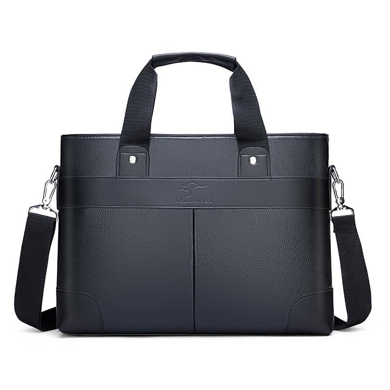 Men's Briefcase PU Leather Handbag Bag Luxury Men's Business Bag Briefcase Purse Male Briefcase Shoulder Bag Office Bag Handbag