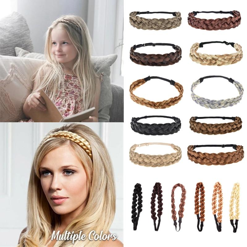 Женская плетеная лента для волос, эластичная плетеная лента для волос в богемном стиле, аксессуар для волос|Женские аксессуары для волос|   | АлиЭкспресс