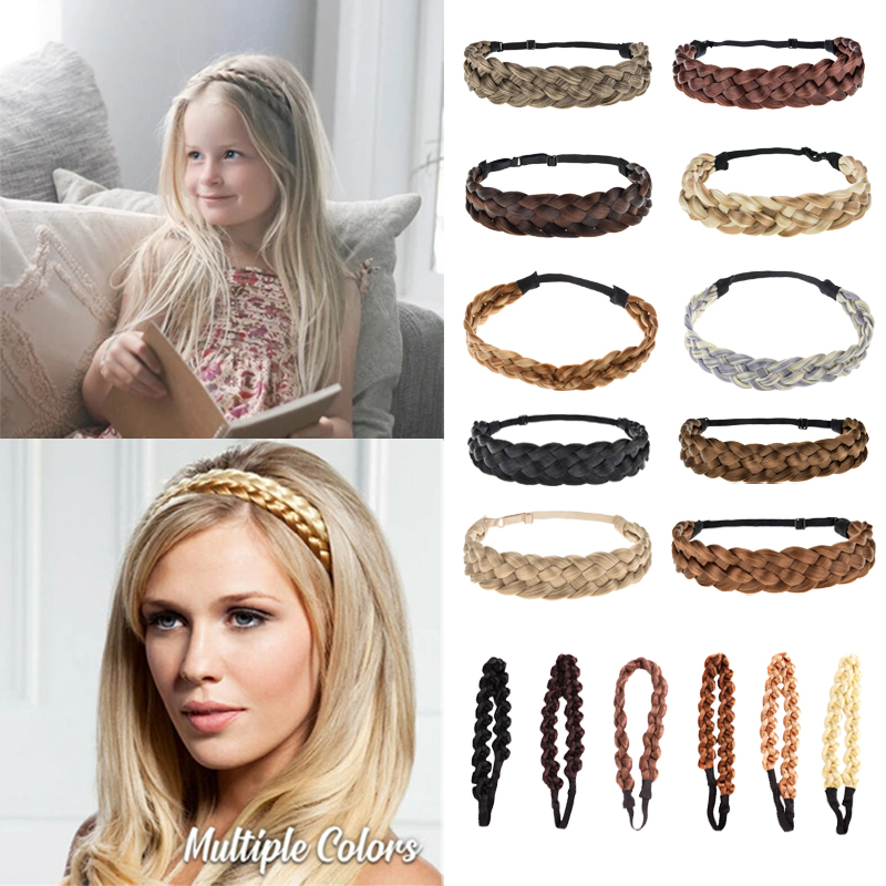 Fashion Synthetic Wig Twist Hair Bands Fashion Braids Hair Accessories Women Bohemian Plait Elastic Headband Stretch Bandana