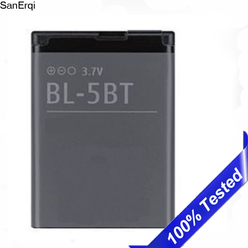 Battery For Nokia 2608 2600c 7510a 7510s N75 BL-5BT 870mAh BL 5BT High Quality