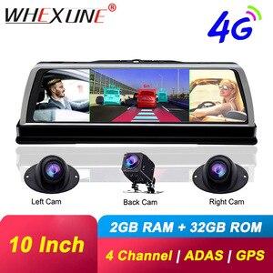 "Image 1 - WHEXUNE 4CH камера s объектив 10 ""Android Navi Автомобильная камера FHD 1080P gps зеркало заднего вида ADAS WIFI видеорегистратор ОЗУ 2 ГБ + ПЗУ 32 Гб"