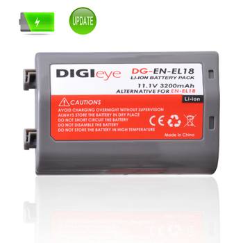 11.1V 3200mAh EN-EL18 EN-EL18a ENEL18 Battery for Nikon D4 D4S D5 Camera and D500 D800 D800E D810 D850 Battery Grip image