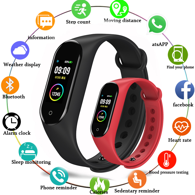 Schnoah Fitness bande podomètre Bracelet intelligent moniteur de fréquence cardiaque Bracelet natation étanche montres pour xiaomi iphone téléphone