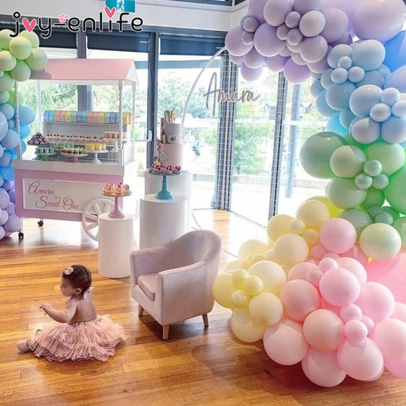 21 Pcs Pastel Balloons,Macaron Candy Color Balloons,Rainbow Unicorn Birthday Decorations,Baby Shower Decor,Party Supplies,Pastel Balloons