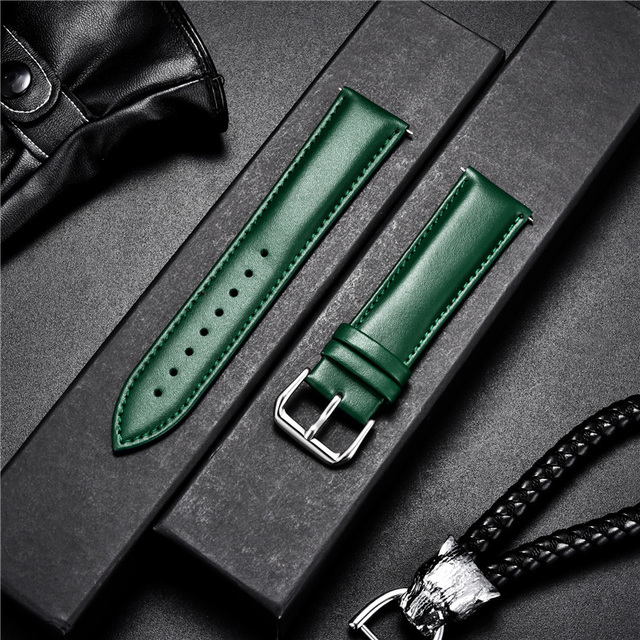 Smooth Calfskin Leather Watchband (Multiple Colours) 5