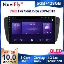 6G + 128G QLED 4G LTE Carplay Android 10 Radio de coche Multimidia reproductor de Video GPS para asiento Ibiza 6j 2009-2013 navegación no 2din dvd