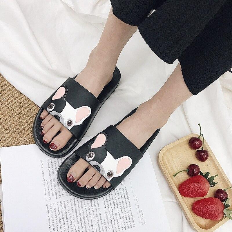 2020 Slippers Women Summer Korean Style Shafa Dog Non-slip Drag Casual Sandals Wedges Beach Slippers Female