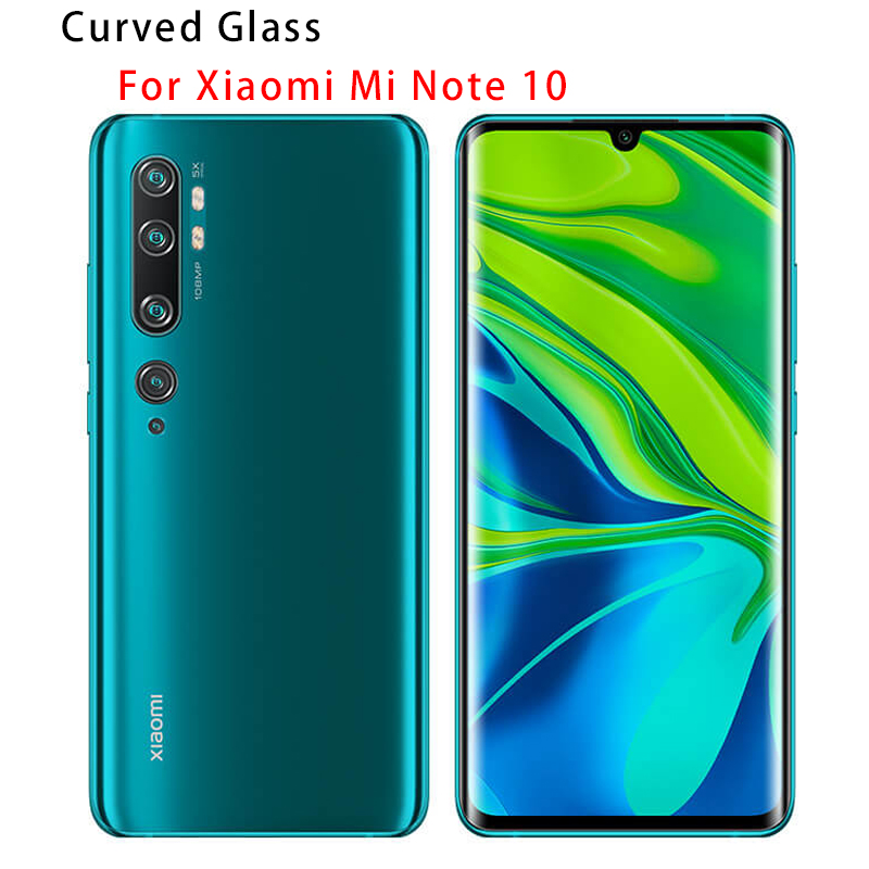 Tempered Glass HD Full Cover Curved Screen Protector For Xiaomi Mi Note 10 Pro Protective Glass For Xiaomi Mi Note 10 CC9 Pro