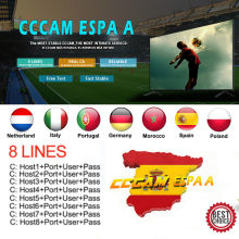 2020 Spanje Cccam Espa Een Server Hd Stabiele Europa 8 Lijnen Portugal/Polen/Italia 1 Jaar 2 Jaar tv Cinebox Satelliet Receptor(China)