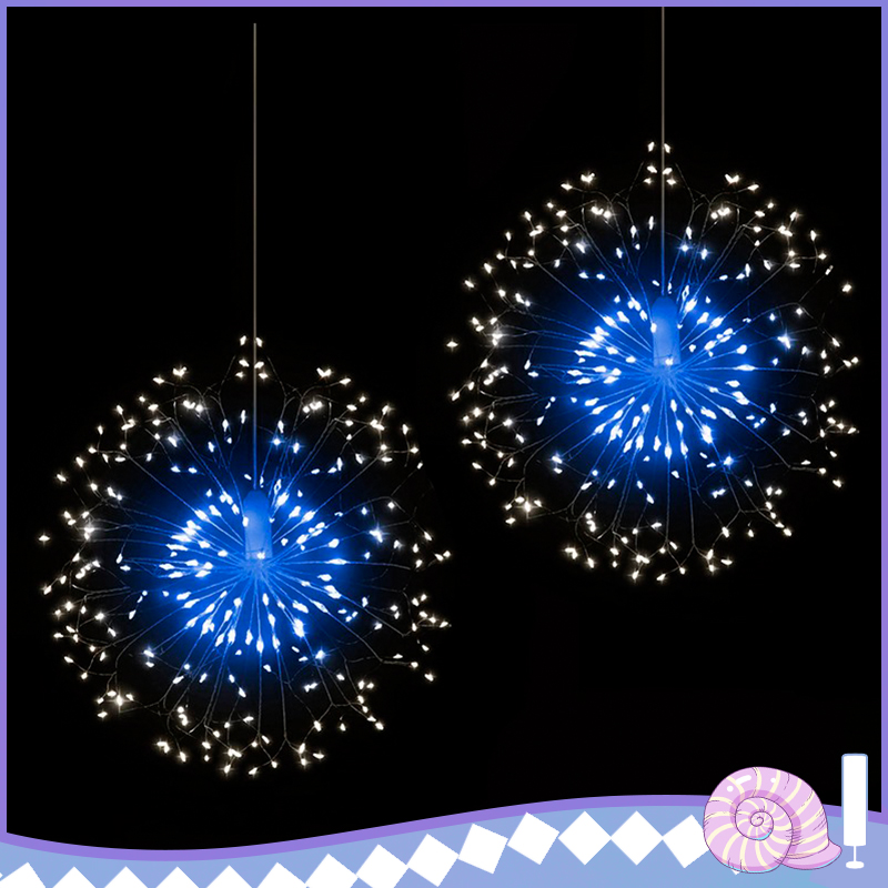 120 LED Outdoor IP65 Hanging Starburst String Light Firework Copper Lights Xmas String Fairy Christmas Lights Remote Control
