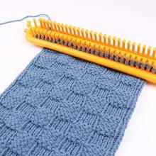 3pcs/Set Weaving Loom Knitting Kit Plastic Pompom Sock Hat Scarf Scarves Maker Plastic Long Handle DIY Weaving Tool Random Color