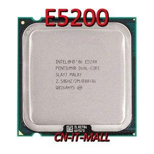 Puxado pentium e5200 cpu 2.5 ghz 2 m 2 núcleo 2 threads lga775 processador