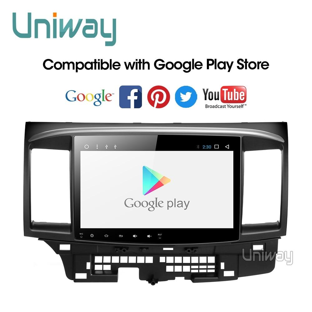 Uniway px30 dsp android 9.0 carro dvd para mitsubishi lancer 10.1 polegada 2008 2009 2010 2011 2012 2013 2014 2015 navegador estéreo do carro