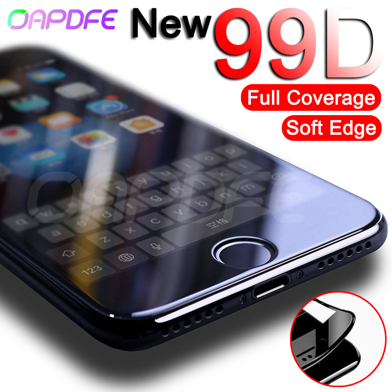 99D Curved Full <font><b>Cover</b></font> Tempered Glass on the For <font><b>iPhone</b></font> X XR XS 11 Pro Max <font><b>Screen</b></font> Protector <font><b>iPhone</b></font> <font><b>8</b></font> 7 6 6s Plus Protection Film image